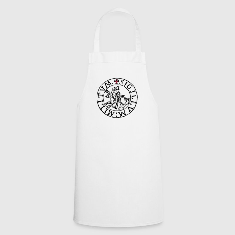 templar knights seal - Cooking Apron