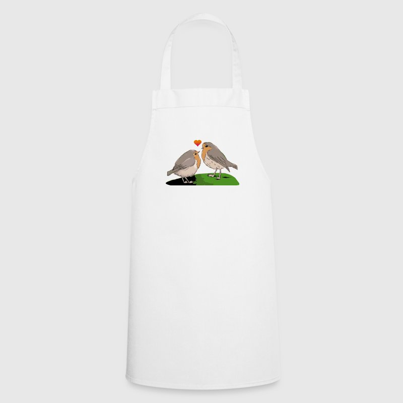 Robin red breast bird love Bottles & Mugs - Cooking Apron
