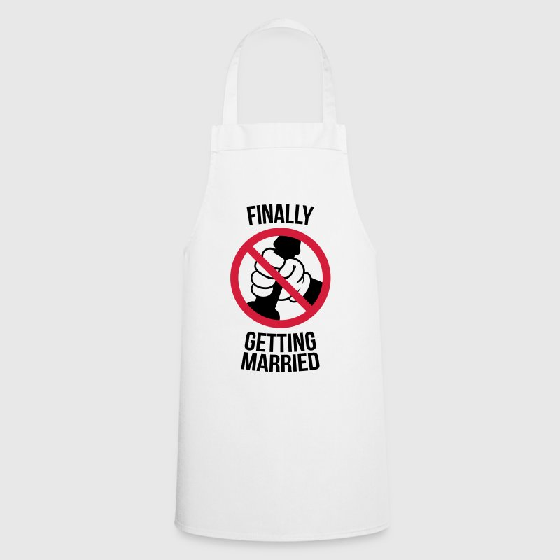 Finally getting married with cock, jerk, wank T-Shirts - Cooking Apron