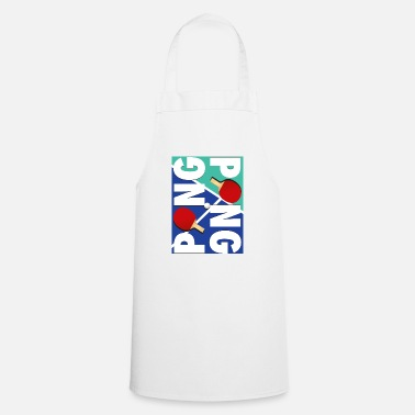 Sports Ping Pong sports racket design - Cooking Apron
