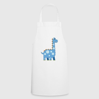 happy dinosaur cuddly toy child sweet primal time - Cooking Apron
