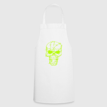 Skull Head in Barbed Wire - Cooking Apron