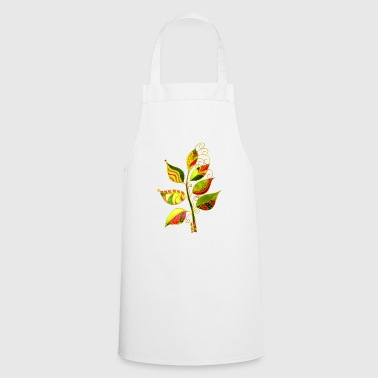 Decorative leaves - Cooking Apron