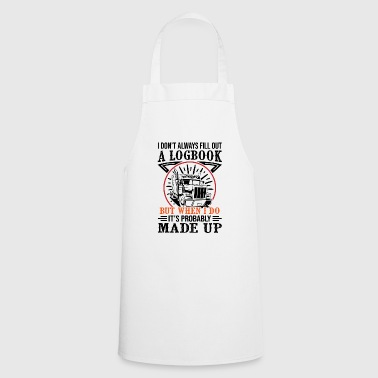 Trucker A Logbook made up - Cooking Apron