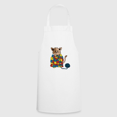 knitting cat - Cooking Apron