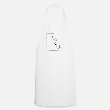 Style Woman face comic style - Cooking Apron