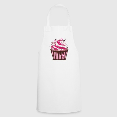 Frost A cupcake with frosting - Cooking Apron