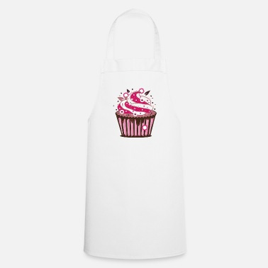 Cooking A cupcake with frosting - Apron