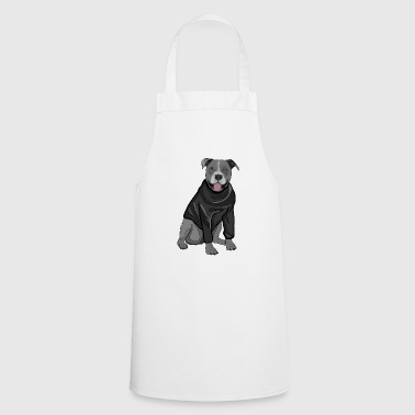 Cute dog sweater pullover Stafford gift idea - Cooking Apron