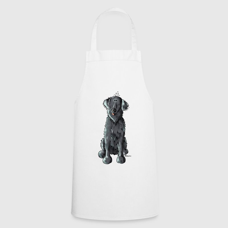 Happy Flat Coated Retriever - Cooking Apron