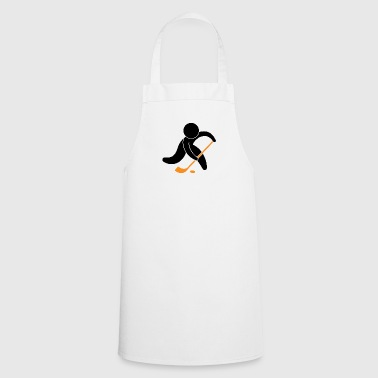 A Hockey Player With The Puck - Cooking Apron