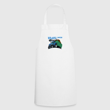 Blue in motion border - Cooking Apron