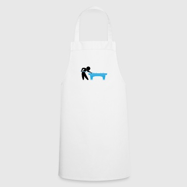 A Pool Player Is On The Pool Table - Cooking Apron
