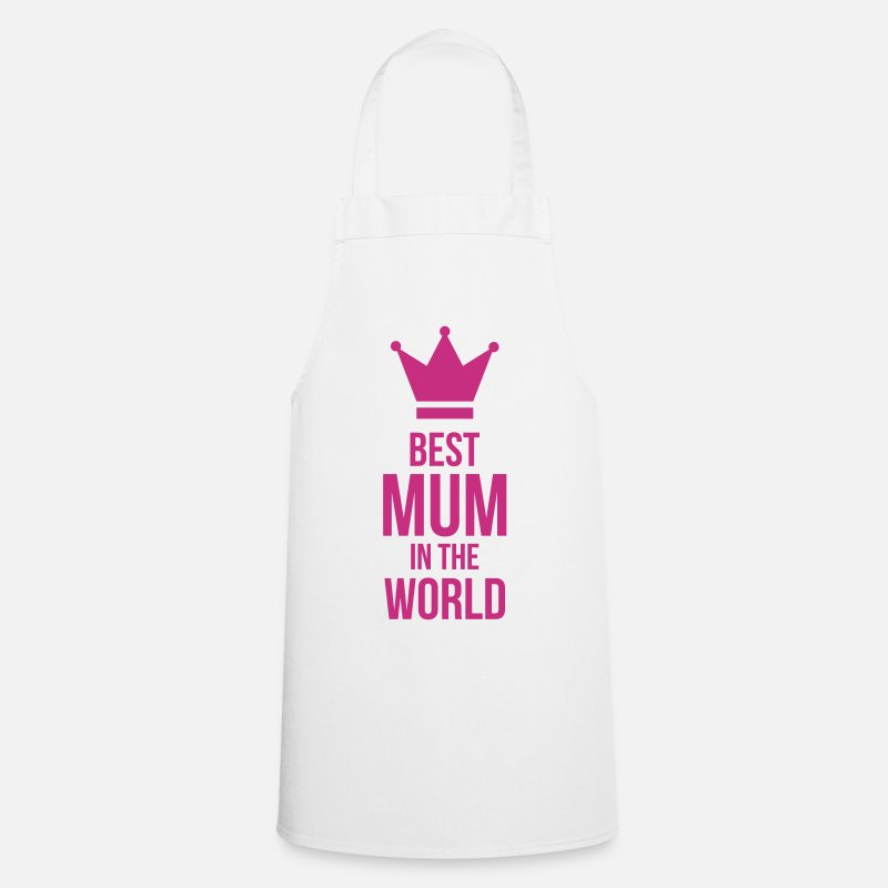 Baby Aprons - Best Mum in the World ! - Apron white