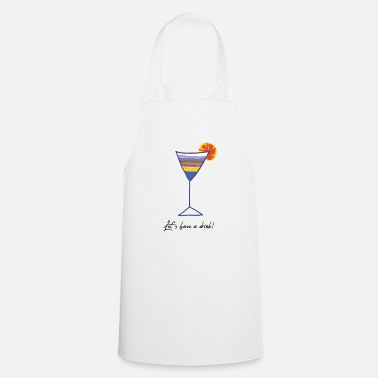 Drinking drink - Cooking Apron