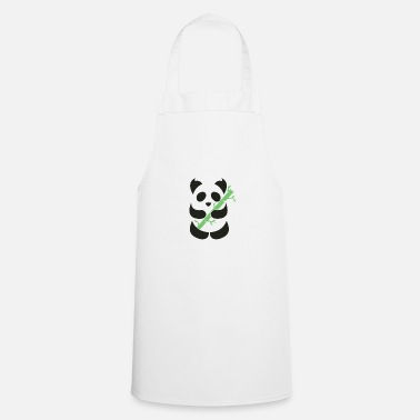 Bamboo Panda with bamboo - Cooking Apron