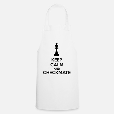 Szachy Keep Calm And Checkmate   - Fartuch kuchenny