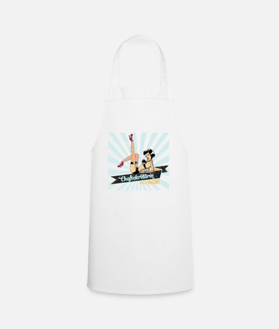 Occupation Aprons - sexy chief secretary secretary retro gift woman - Apron white