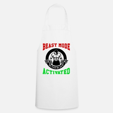 Biest Beast Mode Activated 1- Bodybuilder Fitness Gym - Apron