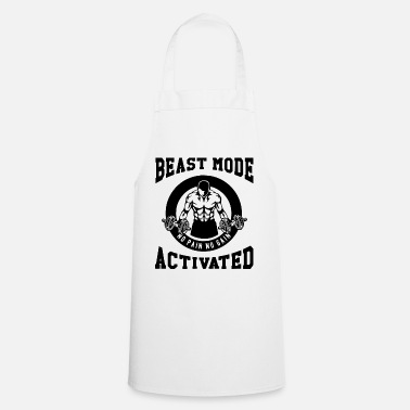 Biest Beast Mode Activated 3- Bodybuilder Fitness Gym - Apron