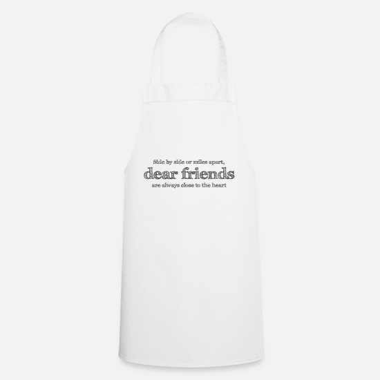 Friendship Aprons - Close to the heart - Apron white