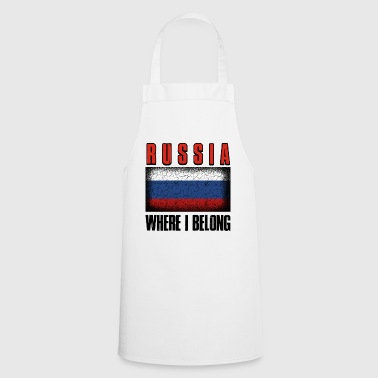 B Day Russia Where I Belong | Moscow Tyumen gift - Cooking Apron
