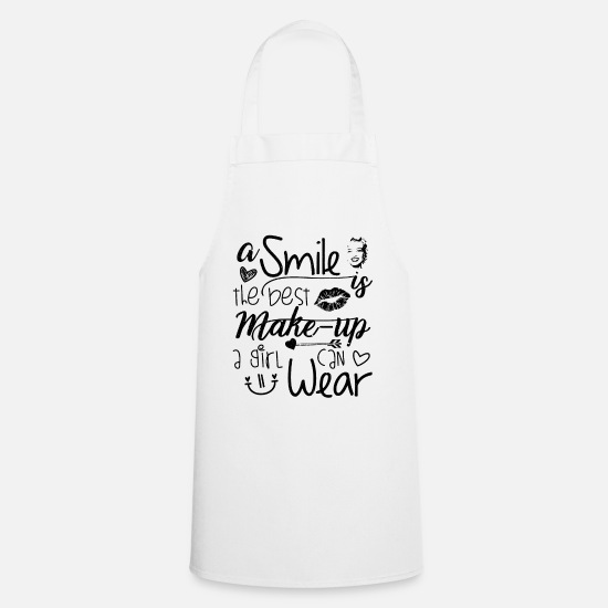 Therapist Aprons - A smile, the best make-up | Beauty gift - Apron white