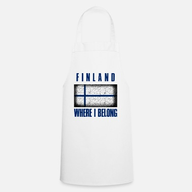 Patriot Suomi Where I Belong | Finland Helsinki geschenk - Keukenschort