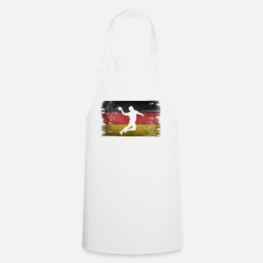 Tain Handball player Germany retro flag - Apron