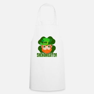 Graphic St Patricks Day Party Shirt Shamrock Beer Gift - Apron