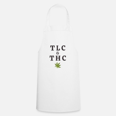Tlc 420 Pot Leaf Graphic / Marijuana Plant Saying / - Schort