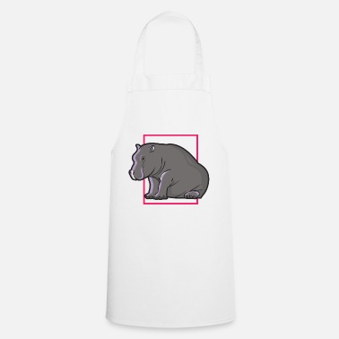 Sit Sitting hippopotamus - Cooking Apron