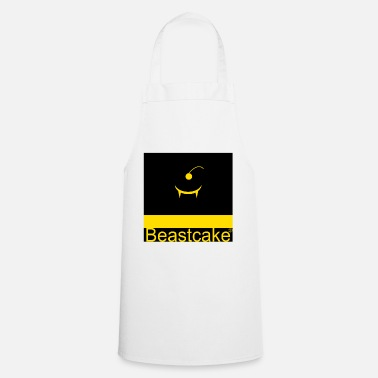 Funky Beastcake logo yellow black - Apron