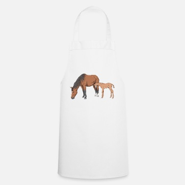 Mare Mare and Foal - Apron