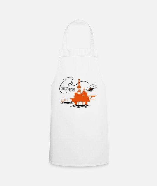 Oil Rig Aprons - Cormorant Oil Rig North Sea Aberdeen - Apron white