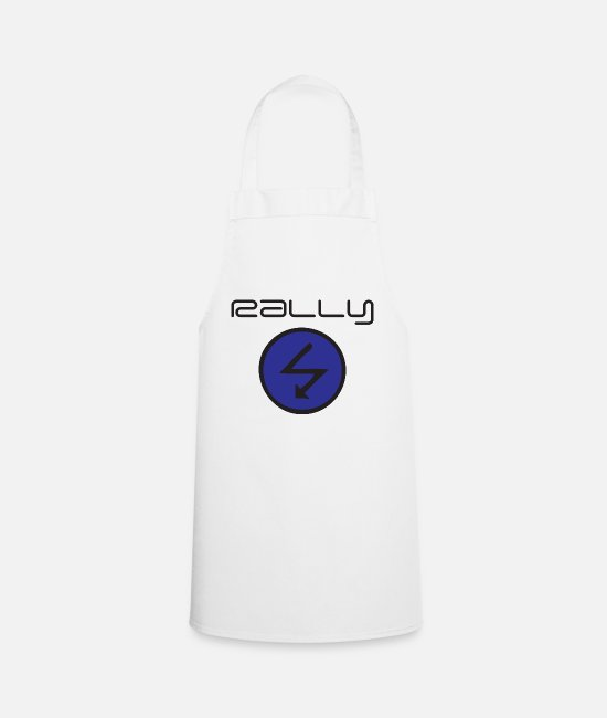 Radio Aprons - Rally Radio - Apron white