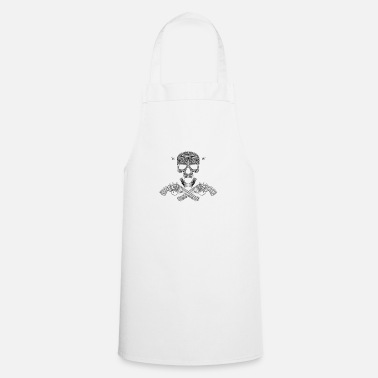 Revolver Skull with revolver - Cooking Apron