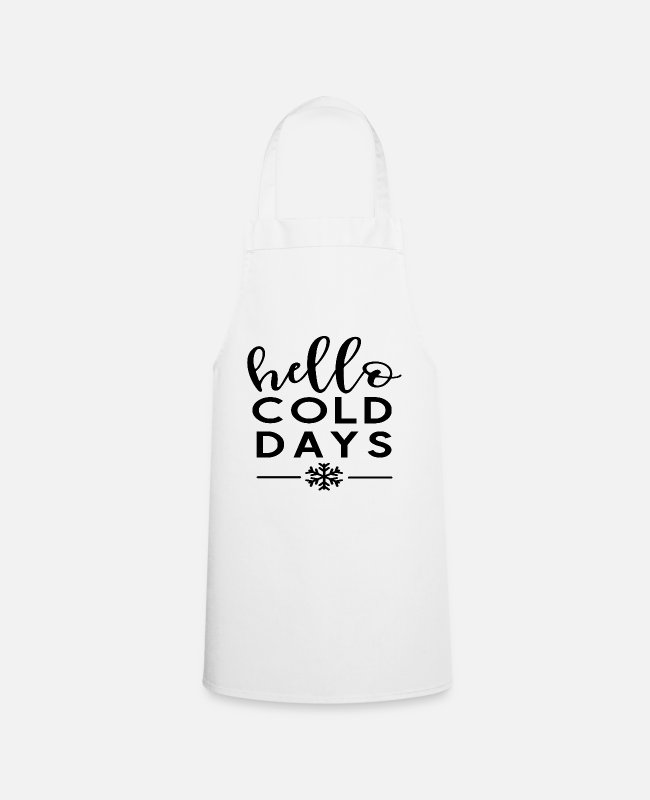 Snowing Aprons - winter - Apron white