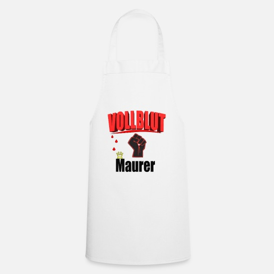 Gift Idea Aprons - Bricklayer thoroughbred house building gift idea gift - Apron white