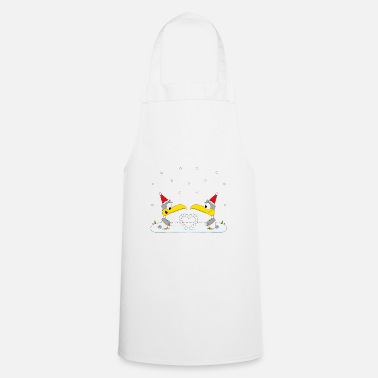 Sock MÖWEN - SNOW - WINTER - HEART - LOVE - LOVE - Apron