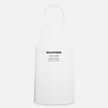 Collection Willpower Definition Dictionary - Apron
