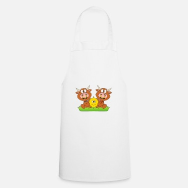 Humour Cows - cattle - let the sun into your heart - Apron