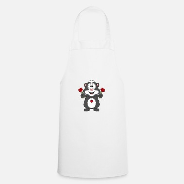 Fashion Funny skunk - skunk - roses - love - love - Apron