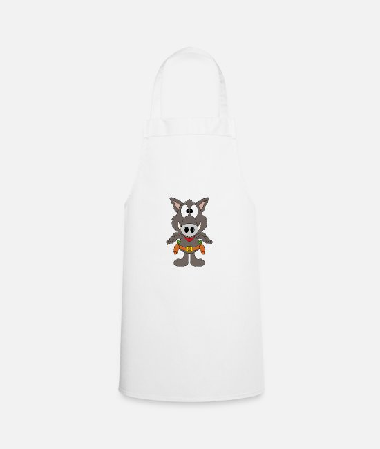 Hog Aprons - Funny wild boar - cowboy - carrot - vegetables - Apron white