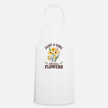 Loves Flowers girl garden gardener flower bed - Apron