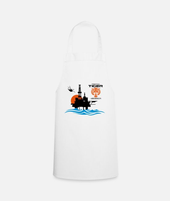 Oil Rig Aprons - North Sea Tiger Oil Rig Platform Aberdeen - Apron white