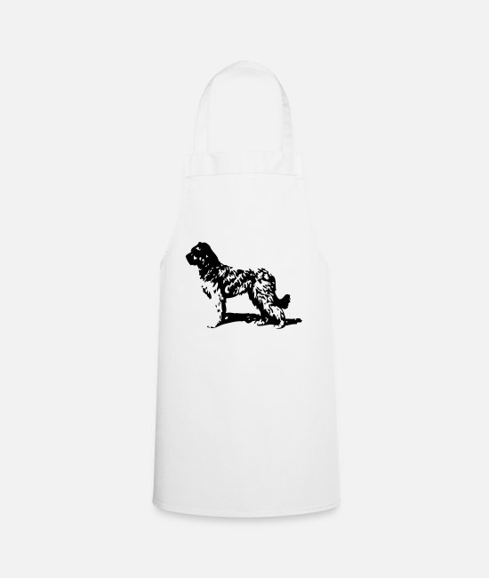Brown Aprons - Briard - Dog - Apron white