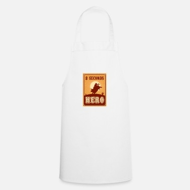 Rodeo Bull Riding 8 Seconds Hero Vintage Rodeo Retro Cow - Apron