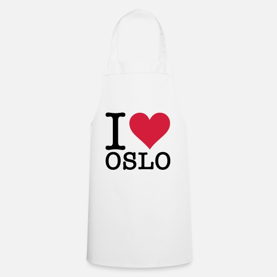 S'aimer Tabliers - I love Oslo - Tablier blanc