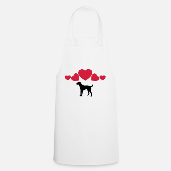 Labrador Aprons - ❤↷I Love Dogs-Best Animal-Dog Lovers↶❤ - Apron white